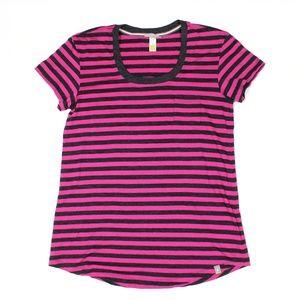 Smartwool Scoop Neck Stripe Short Sleeve Top